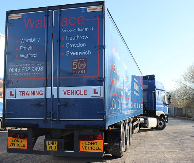 LGV CE reversing training with Wallace School of Transport
