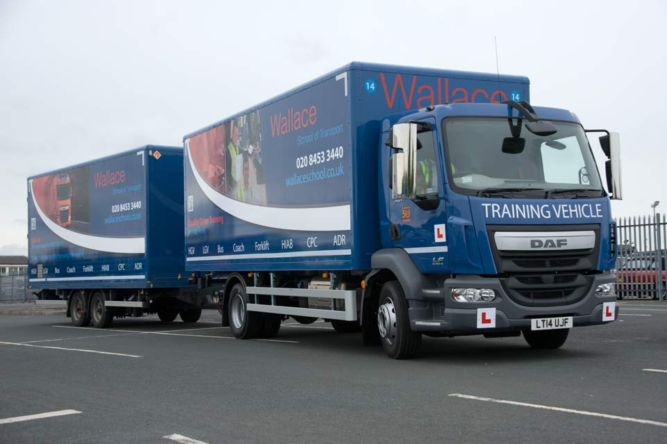Wallace _HGV_Class_1_/_ LGV_C+E_Drawbar_training_vehicle
