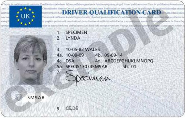 Driver CPC - Driver Qualification Card