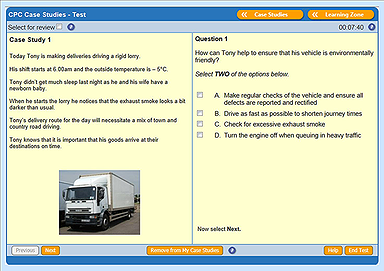 Wallace Sample LGV Driver CPC Theory Test Question
