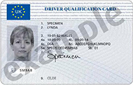 Driver Qualification Card - Driver CPC