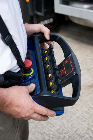 Hiab Training - Lorry Loader Remote Handset