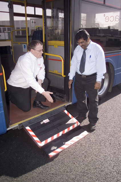 Kneeling Bus for wheel chair users